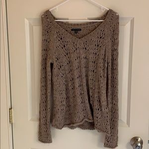 Tan/Gray Sweater from American Eagle!